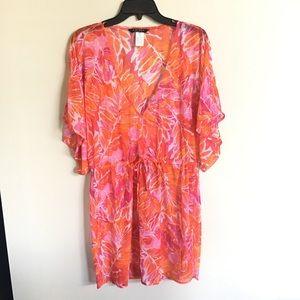 Ralph Lauren Pink & Orange Swimsuit Coverup M